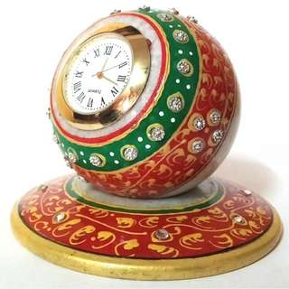 Artistic mearble stone table watch