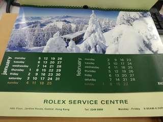 Rolex舊掛曆