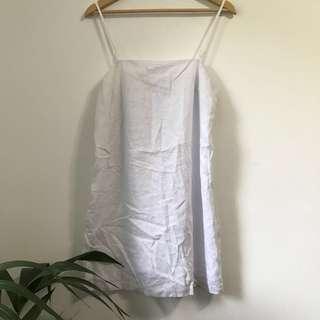 BNWT White linen dress