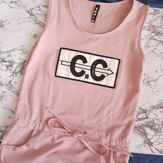 CC pink casual dress