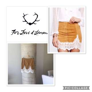 For Love and Lemons Lace Skirt Size Small