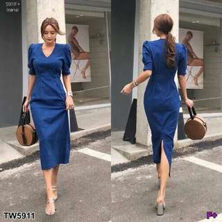Denim dress; shop
