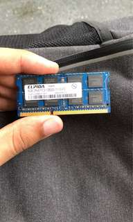 1 x 8GB RAM 1600MHz (Laptop)