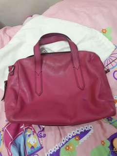 Fossil geniune leather pink bag