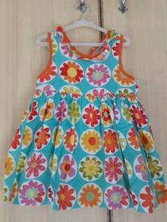 Green flowery dress 2t