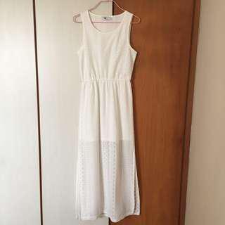 (BN) Lace Sleeveless Maxi Dress