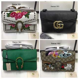 Gucci assorted satchel bags