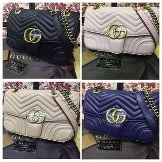 Gucci marmont satchel flap bag