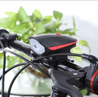 USB Rechargeable Bicycle Light with Horn