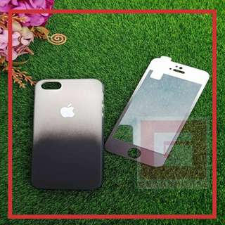 2 in 1 Ombre Soft Back Phone Cases + Tempered Glass  📱