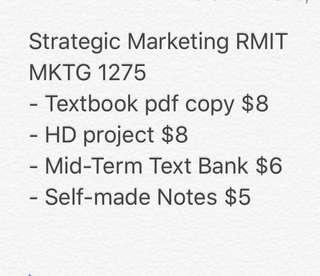 Strategic Marketing RMIT MKTG 1275