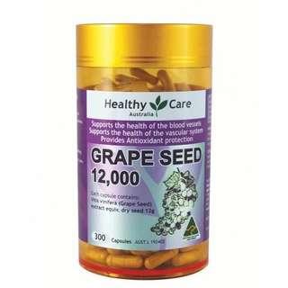 🚚 澳洲 Healthy Care 葡萄籽膠囊 (美白, 抗氧化, 抗衰老)300粒