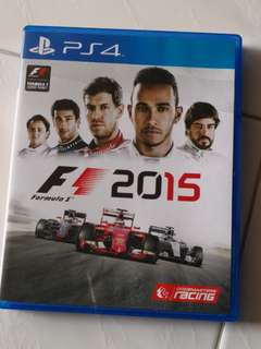 F1 2015 ps4 good condition