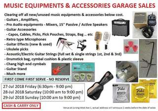 Garage Sale - end July 2018 (Pls Read Details Below)