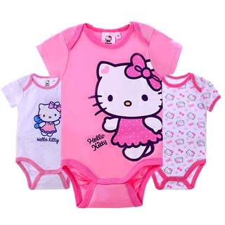 BMT566 - Hello Kitty with Sleeve Onesie *Cotton*