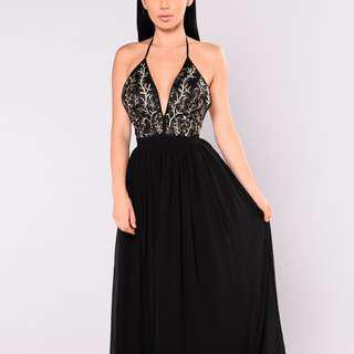 Emmy Maxi Dress - Black Size M