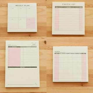 🚚 5pads set of Desk Planner / Memo Pad