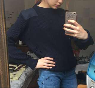 Unisex blue navy sweater