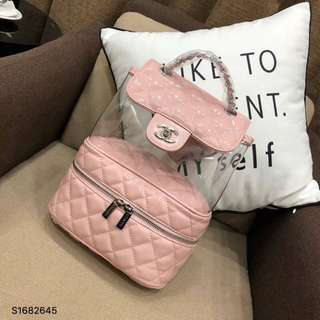 Chanel pink backpack