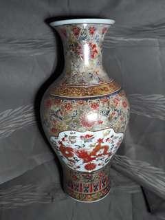 大清雍正年款法瑯彩龍紋瓶40公分高