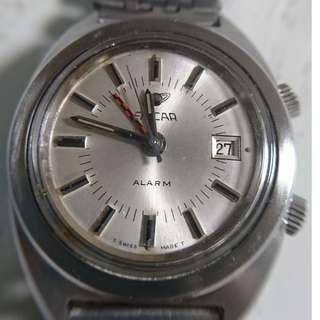 [最佳父親節禮物] 古董英納格機械式上鍊日曆鬧錶 (Vintage Enicar Manual-winding Alarm Date Watch)