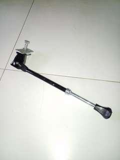 Bicycle kick stand. Mounting on the bottom part of the frame.