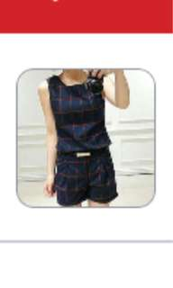 Checkered Set Clothes for Ladies