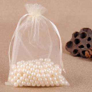 Cream Organza Bag - 10 x 15cm
