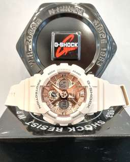 * FREE DELIVERY * Brand New 100% Authentic Casio GShock Mini Rose Gold G Shock For Lady's G-Shock GMAS-120MF-4ADR