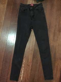 Black high waist pants size 23-24
