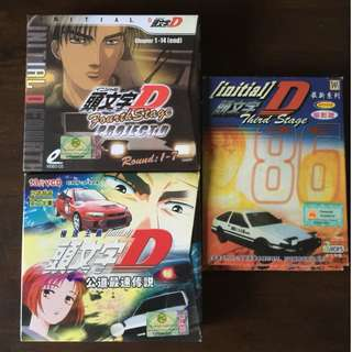 🔃 Assorted Initial D Anime VCDs (All for $5) #hariraya35