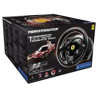 Official SONY PS4 / PS3 / PC Thrustmaster T300 Ferrari GTE Wheel (Mint)