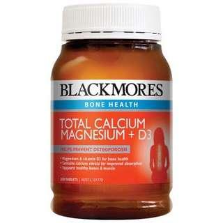 Blackmores Total Calcium & Magnesium + D3 鈣鎂片+維生素D3 200粒