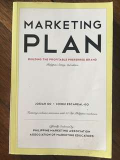 Marketing Plan (Josiah Go/Chiqui Escareal Go)
