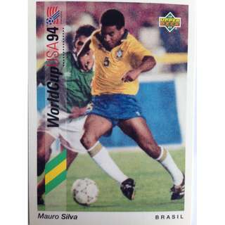 Mauro Silva (Brazil) - Soccer Football Card #73 - 1993 Upper Deck World Cup USA '94 Preview Contenders