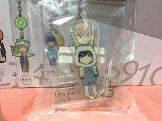 Ten Count Acrylic Phone Stand Keychain