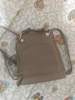 So Fab! Beige two-way bag (hand bag / backpack)