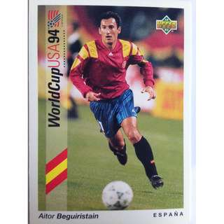Aitor Beguiristain (Spain) - Soccer Football Card #71 - 1993 Upper Deck World Cup USA '94 Preview Contenders