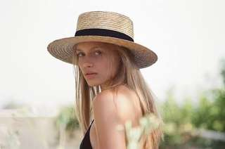 LACK OF COLOUR straw boat hat