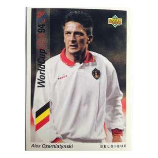 Alex Czerniatynski (Belgium) - Soccer Football Card #70 - 1993 Upper Deck World Cup USA '94 Preview Contenders