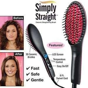 Simply Straight Ceramic Straightening Hair Brush
