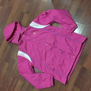 Pink Windbreaker/Rain Jacket