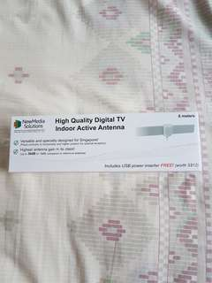 BNIB High Quality Digital TV Indoor Active Antenna - 6 metres