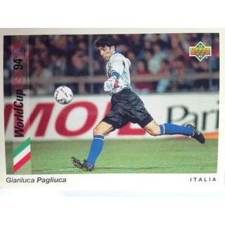 Gianluca Pagliluca (Italy) - Soccer Football Card #67 - 1993 Upper Deck World Cup USA '94 Preview Contenders