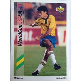 Bebeto (Brazil) - Soccer Football Card #66 - 1993 Upper Deck World Cup USA '94 Preview Contenders