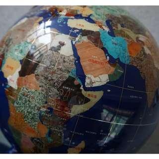 珍珠寶石地球儀(真寶石)
