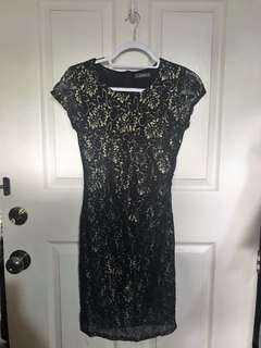 XARA Black & Gold DRESS