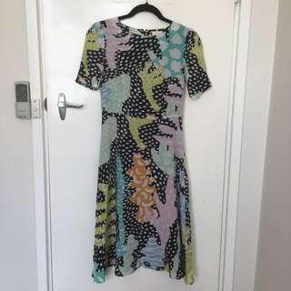 Zissou Gorman midi dress (Sz 6)