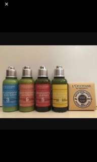 Loccitane Toiletries Travel set
