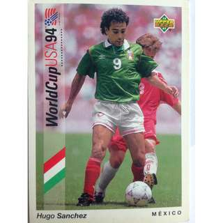 Hugo Sanchez (Mexico) - Soccer Football Card #64 - 1993 Upper Deck World Cup USA '94 Preview Contenders